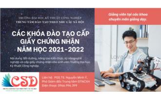Thông báo mở lớp đào tạo ngắn hạn cấp giấy chứng nhận năm học 2021-2022
